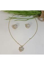 CSC0021 - Gold, Rose Necklace Set