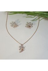 CSC0022 - Rose Gold, Flower Necklace Set