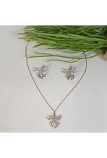 CSC0027 - Rose Gold,  Necklace Set