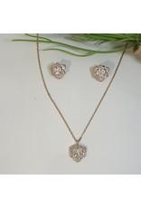 CSC0029 - Rose Gold, Rose Necklace Set