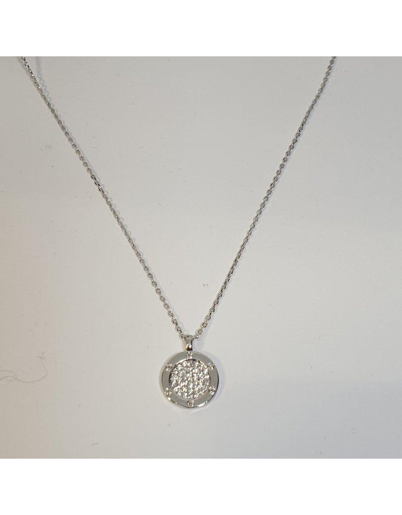 SCD0024 - Silver,  Short Necklace