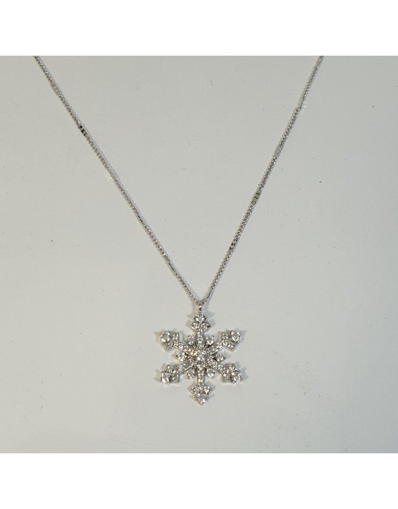 SCD0025 - Silver, Snowflake Short Necklace