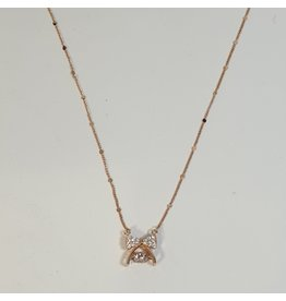 SCD0031 - Rose Gold, Bow Short Necklace