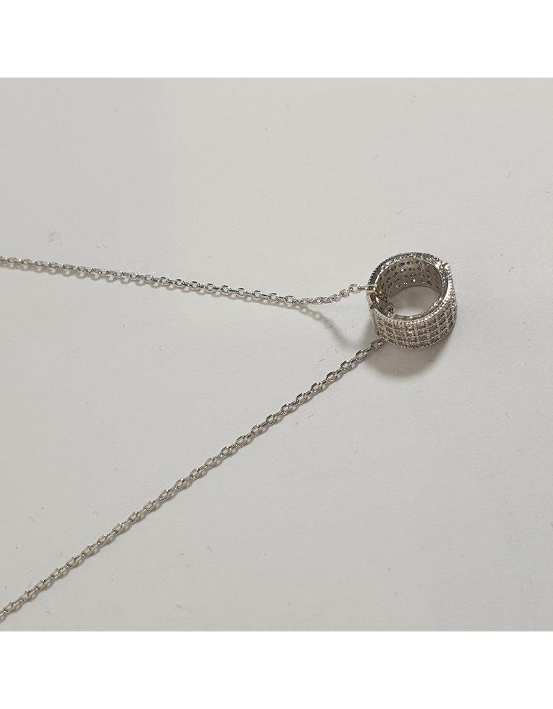 SCD0033 - Silver,  Short Necklace