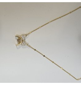 SCD0032 - Gold, Bow Short Necklace