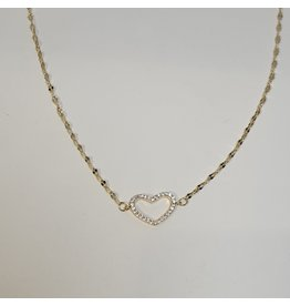 SCD0037 - Gold, Heart Short Necklace