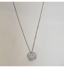 SCD0062 - Silver, Smiley Short Necklace