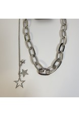LCD0005 - Silver Multi-Layer Necklace