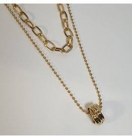 LCD0009 - Gold Multi-Layer Necklace