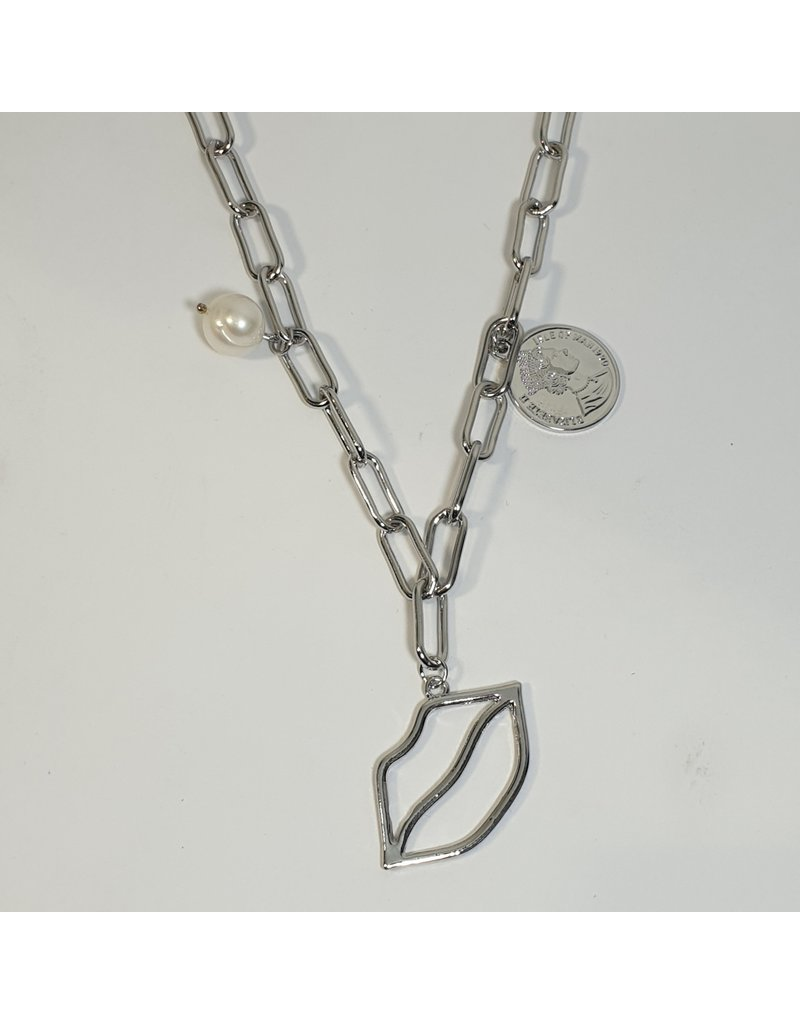 LCD0011 - Silver Multi-Layer Necklace