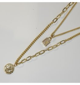 LCD0013 - Gold Multi-Layer Necklace
