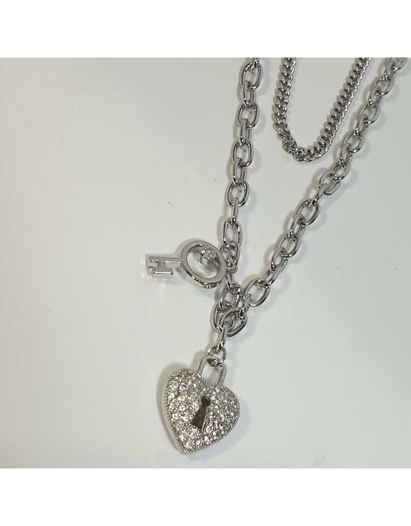 LCD0016 - Silver Multi-Layer Necklace
