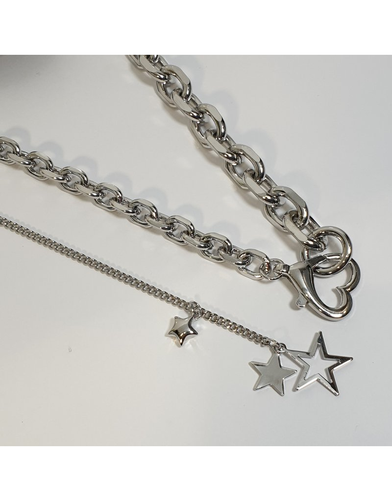 LCD0017 - Silver Multi-Layer Necklace
