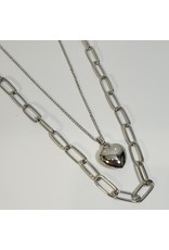 LCD0020 - Silver Multi-Layer Necklace