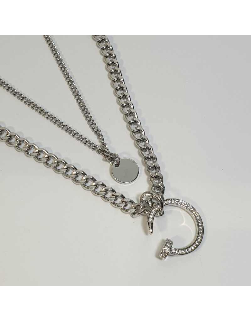 LCD0024 - Silver Multi-Layer Necklace