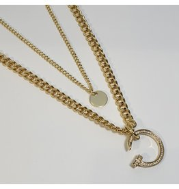 LCD0025 - Gold Multi-Layer Necklace