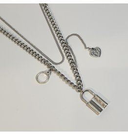 LCD0028 - Silver Multi-Layer Necklace