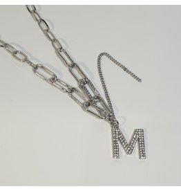 LCD0030 - Silver Multi-Layer Necklace