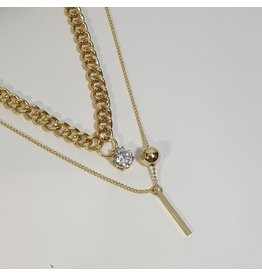 LCD0034 - Gold Multi-Layer Necklace