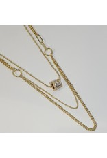 LCD0035 - Gold Multi-Layer Necklace