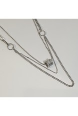 LCD0036 - Silver Multi-Layer Necklace