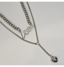 LCD0046 - Silver Multi-Layer Necklace