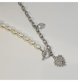 LCD0050 - Silver Multi-Layer Necklace