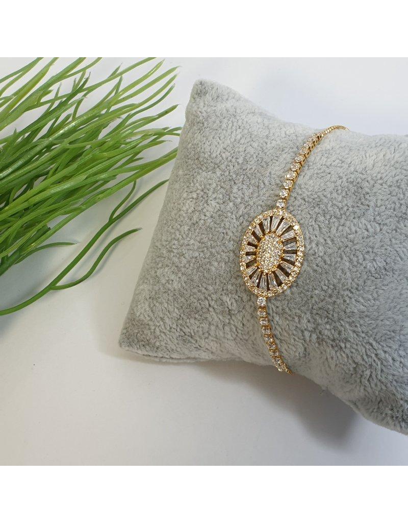 BJG0002 - Gold,  Adjustable Bracelet