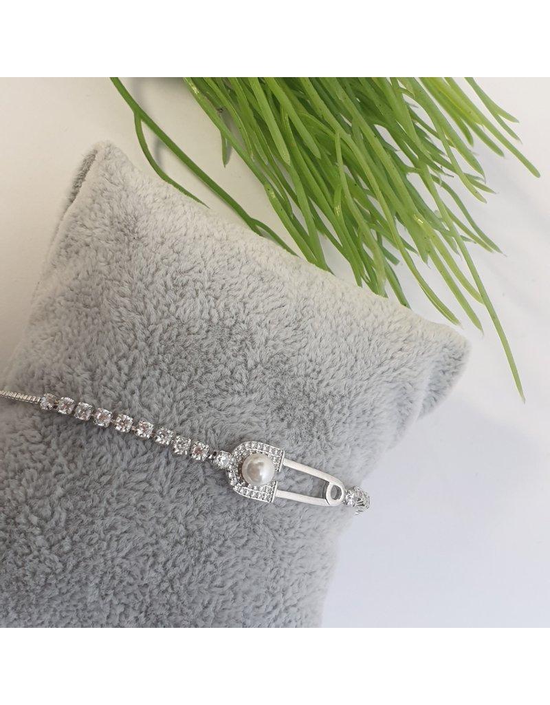 BJG0009 - Silver,  Adjustable Bracelet