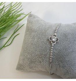 BJG0013 - Silver,  Adjustable Bracelet