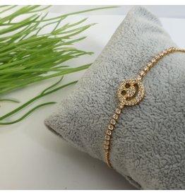 BJG0015 - Gold,  Adjustable Bracelet