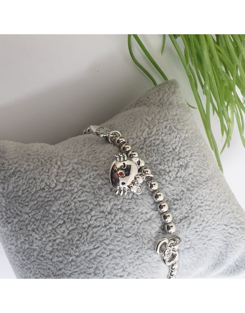 BJG0018 - Silver,  Adjustable Bracelet