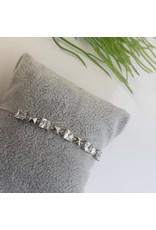 BJG0022 - Silver,  Adjustable Bracelet