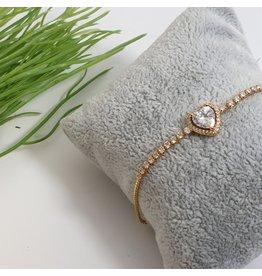 BJG0024 - Gold,  Adjustable Bracelet