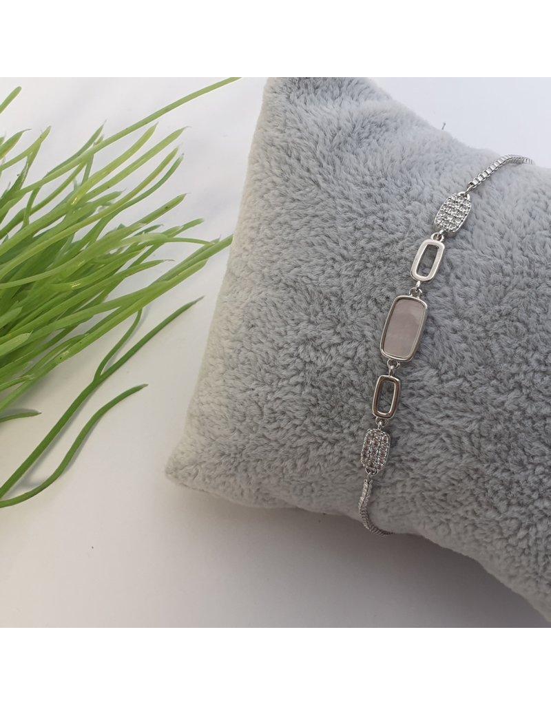 BJG0026 - Silver,  Adjustable Bracelet