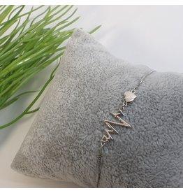 BJG0027 - Silver,  Adjustable Bracelet