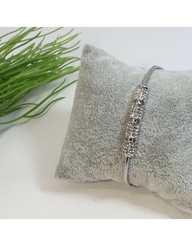 BJG0034 - Silver,  Adjustable Bracelet