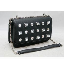 20260013 -Black Studded Clutch