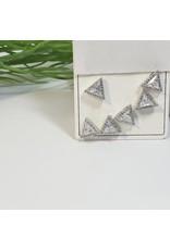 EMA0060 -  Silver  Multi-Pack Earring