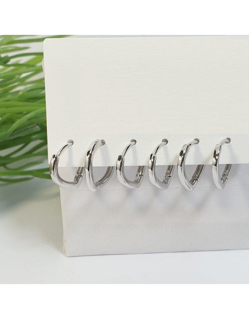 EMA0100 - Silver  Multi-Pack Earring
