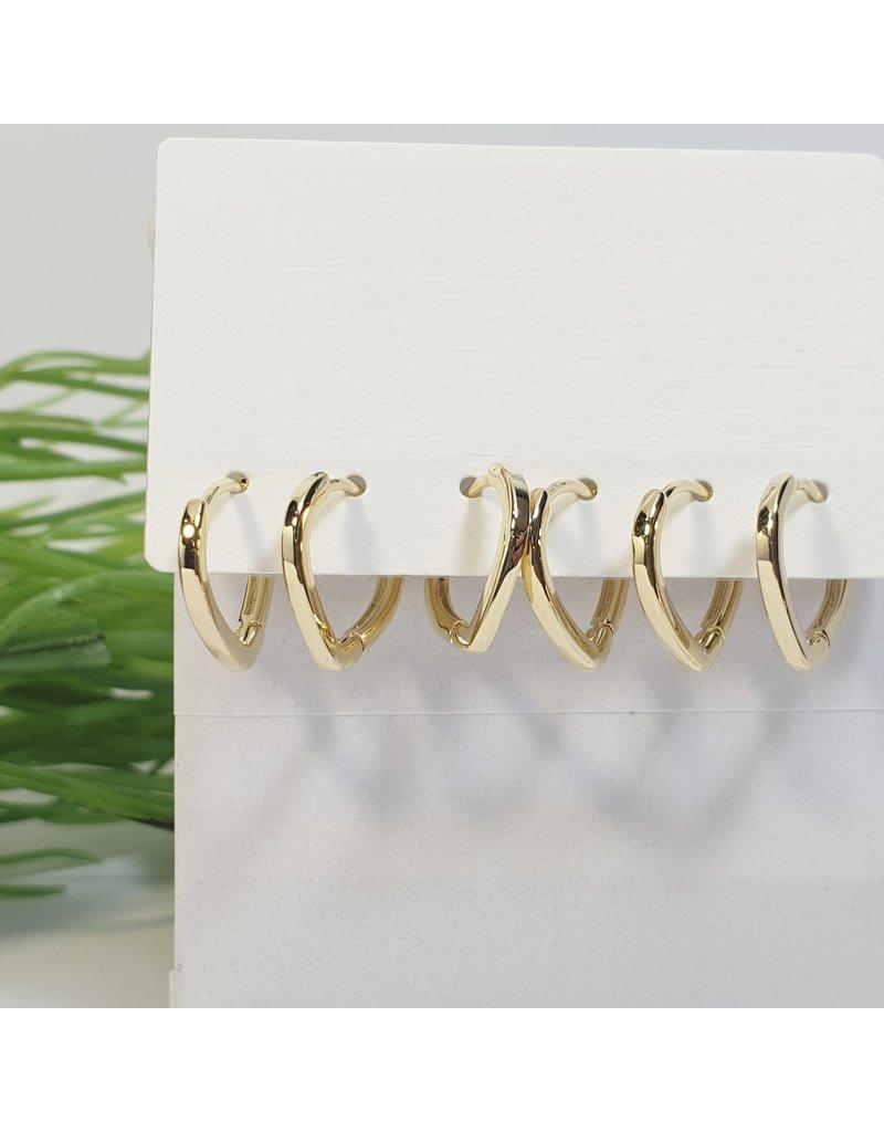 EMA0101 - Gold  Multi-Pack Earring
