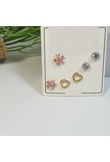 EMA0104 - Silver Multicolours  Multi-Pack Earring