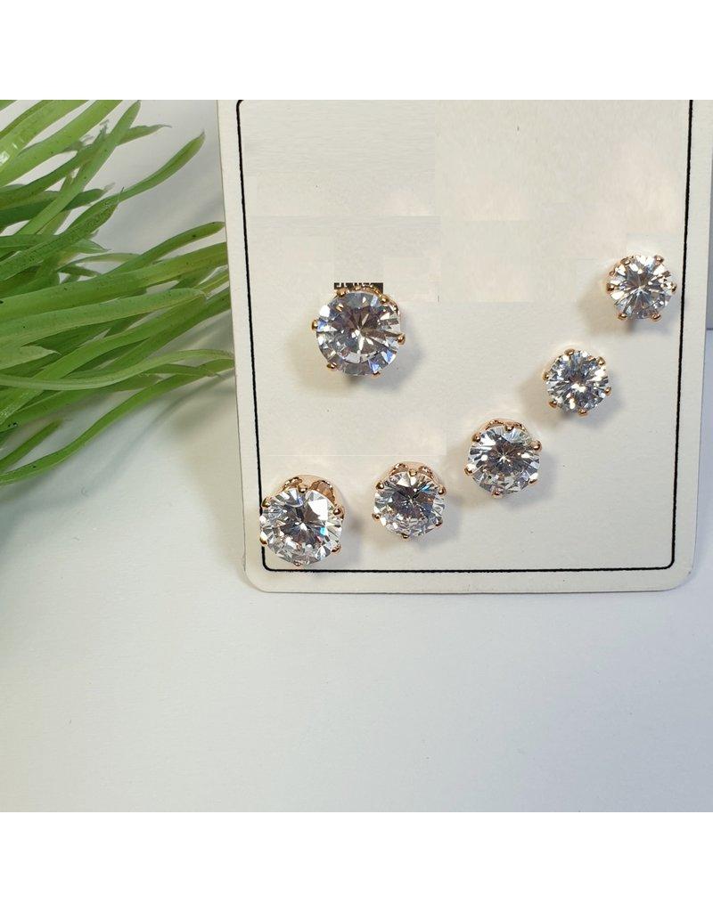 EMA0106 - Rose Gold  Multi-Pack Earring