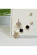 EMA0110 - Gold Black  Multi-Pack Earring
