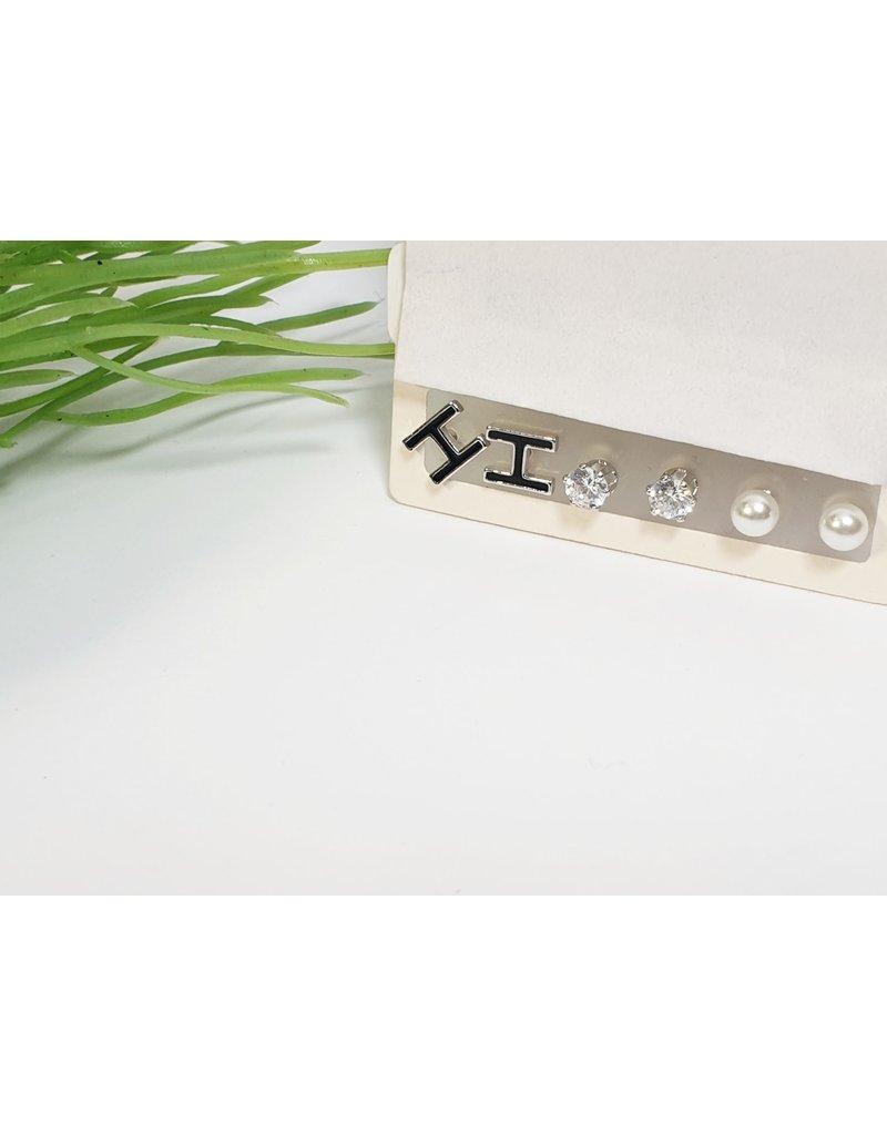 EMA0130 - Silver  Multi-Pack Earring