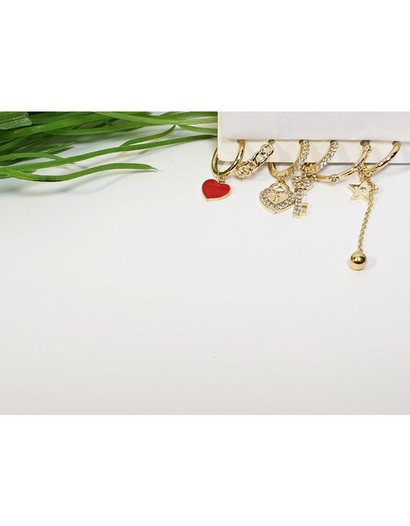 EMA0134 - Gold Hoops  Multi-Pack Earring