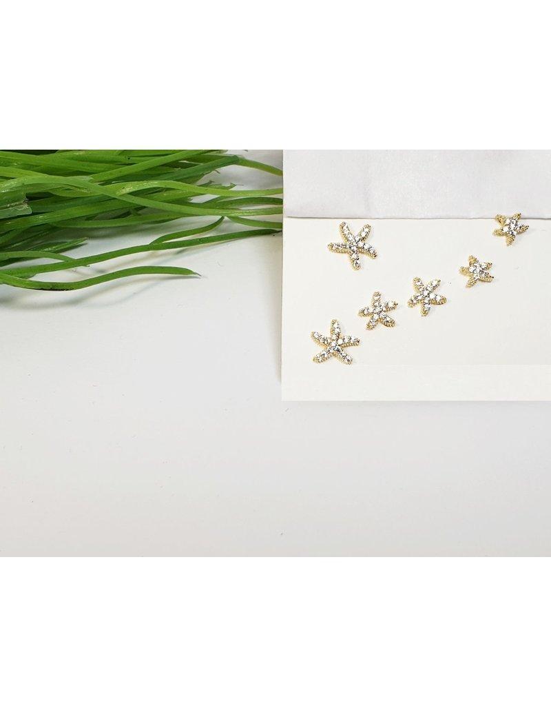 EMA0138 - Gold Starfish  Multi-Pack Earring