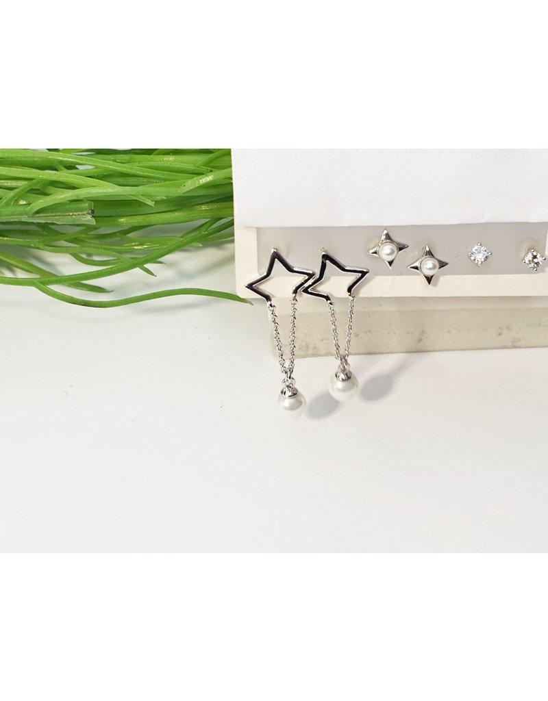 EMA0139 - Silver  Multi-Pack Earring