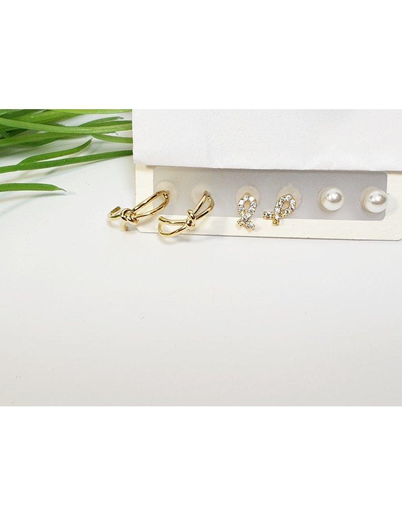 EMA0147 - Gold  Multi-Pack Earring