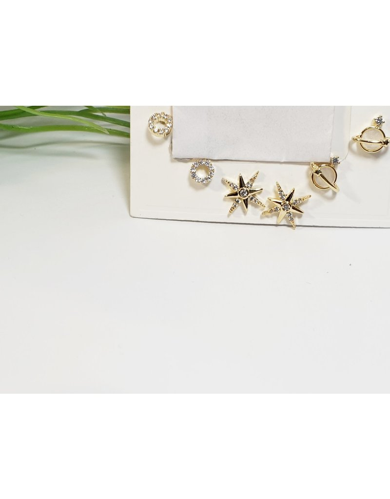 EMA0151 - Gold Star  Multi-Pack Earring
